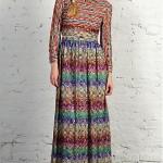 Vintage 1970s Knit Maxi Dress