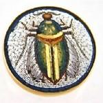 antique 1880 14k micro mosaic brooch