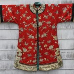 antique 19th century chinese silk embroidered coat with provenance