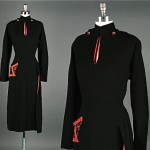 vinage 1940s paul sachs wool dress