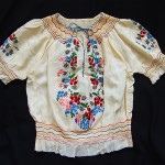 vintage 1920s-30s embroidered silk peasant blouse