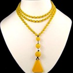 vintage 1920s art deco glass flapper necklace