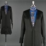 vintage 1920s satin flapper dress