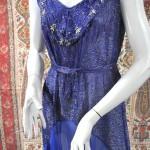 vintage 1930s beaded chiffon dress