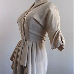 vintage 1940s ceil chapman draped dress
