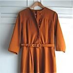 vintage 1940s wool draped dress
