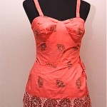 vintage 1950s alfred shaheen sarong bathing suit