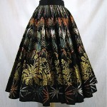 vintage 1950s handpainted mexican circle skirt
