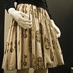 vintage 1950s key print skirt