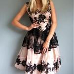 vintage 1950s lace chiffon party dress