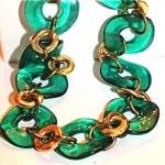 vintage 1950s lucite lifesaver necklace