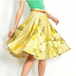 vintage 1950s print cotton skirt