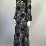 vintage 1950s ribbonwork maxi dress