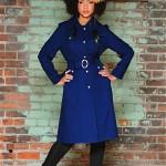 vintage 1960s-70s spring raincoat trench coat