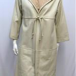 vintage 1960s bonnie cashin dress and leather coat set