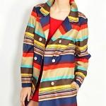 vintage 1960s colorful stripe coat