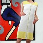 vintage 1960s harvey berin linen dress