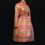vintage 1960s oscar de la renta boutique metallic party dress