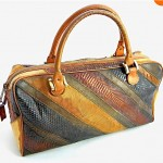 vintage 1960s varon snakeskin handbag