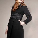 vintage 1960s wool and satin coat