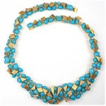 vintage 1966 Christian Dior turquoise cabochon necklace