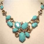 vintage 1970s bib necklace