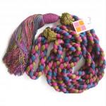 vintage 1970s deadstock ysl silk tassel belt