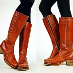 vintage 1970s distressed riding boots