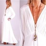 vintage 1970s halston draped maxi dress