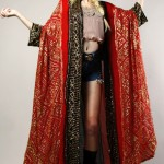 vintage 1970s saks metallic kimono caftan jacket