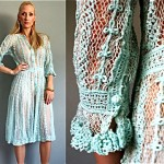 vintage 1970s sheer crochet dress