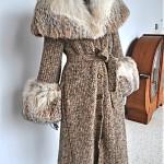 vintage 1970s silver fox maxi sweater