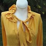 vintage 1970s ysl rive gauche blouse