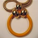 vintage 1971 christian dior hoop necklace