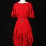vintage 1980s ruffle dress