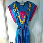 vintage 1990s oscar de la renta for swirl dress