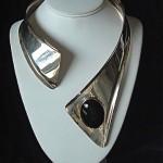 vintage aaron rubinstein modrnist sterling necklace