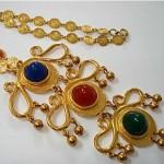 vintage alice caviness cabochon necklace