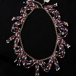 vintage christian dior rwb necklace