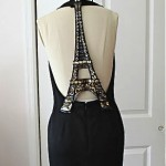 vintage emanuel ungaro little black dress with eiffel tower back