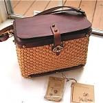 vintage john romaine basket purse