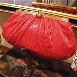 vintage judith leiber snake skin handbag