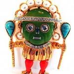 vintage kenneth jay lane tribal brooch