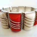 vintage mexican agate and sterling bracelet