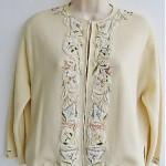 vintage midcentury beaded angora sweater