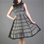 vintage midcentury sheer party dress