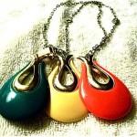 vintage sarah coventry lucite interchangeable pendant necklace