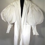 vintage victorian cotton pique mutton sleeve duster