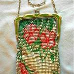 vintage whiting & davis mesh enamel handbag