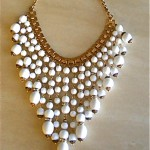 vintge miriam haskell white glass necklace